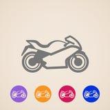 Ícones da motocicleta Fotos de Stock Royalty Free
