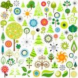 ícones da natureza Fotografia de Stock