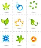 Ícones da natureza Fotos de Stock
