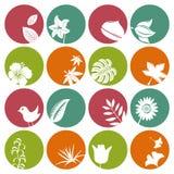 Ícones da natureza ajustados Foto de Stock