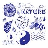 Ícones da natureza ajustados Imagem de Stock