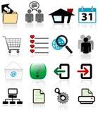 Ícones da navegação do Web Fotografia de Stock Royalty Free