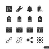 Ícones da notificação ajustados - ilustração do vetor ilustração stock