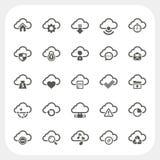 Ícones da nuvem ajustados Foto de Stock