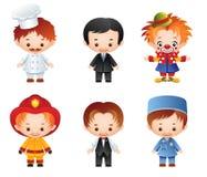 Ícones da ocupação Imagem de Stock Royalty Free
