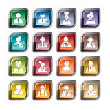 Ícones da ocupação ilustração stock