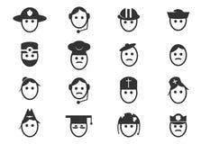 Ícones da ocupação ajustados Foto de Stock Royalty Free