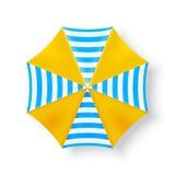 Ícones da opinião superior de guarda-chuva de praia, ilustração do vetor Fotografia de Stock Royalty Free