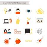 Ícones da otimização da busca Fotos de Stock