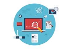 Ícones da pesquisa de mercado Foto de Stock