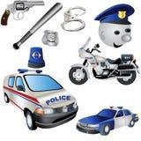 Ícones da polícia Imagens de Stock Royalty Free