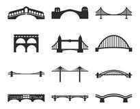 Ícones da ponte ilustração royalty free