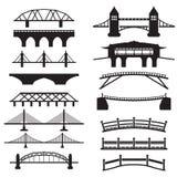 Ícones da ponte ajustados Fotos de Stock