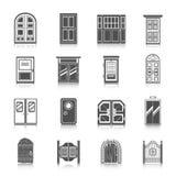 Ícones da porta ajustados ilustração do vetor
