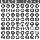 Ícones da praia Imagens de Stock