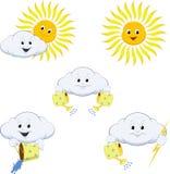 Ícones da previsão de tempo Imagem de Stock Royalty Free