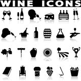 Ícones da produção de vinho ajustados ilustração do vetor