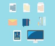 Ícones da produtividade Fotografia de Stock Royalty Free