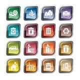 Ícones da proteção ambiental Imagem de Stock Royalty Free