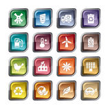 Ícones da proteção ambiental ilustração stock
