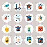 Ícones da proteção de Real Estate Imagem de Stock Royalty Free