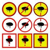 Ícones da pulga da ilustração do vetor Foto de Stock
