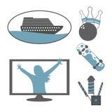 Ícones da recreação Imagem de Stock