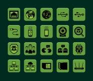 Ícones da rede Fotos de Stock