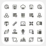 Ícones da rede ajustados Fotos de Stock Royalty Free
