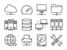Ícones da rede ajustados Imagens de Stock