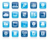 Ícones da rede informática e do Internet