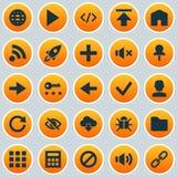 Ícones da relação ajustados Coleção da etiqueta, do áudio, da transferência de arquivo pela rede e dos outros elementos Igualment Imagens de Stock Royalty Free