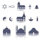 Ícones da religião ajustados Imagem de Stock