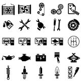 Ícones da reparação de automóveis Imagem de Stock Royalty Free