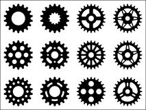Ícones da roda de roda dentada Imagem de Stock