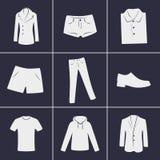 Ícones da roupa Fotos de Stock Royalty Free