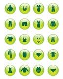 Ícones da roupa (vetor) Fotografia de Stock Royalty Free