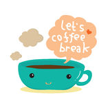 Ícones da ruptura de café ilustração stock