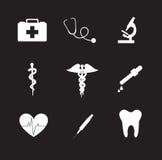 Ícones da saúde Fotografia de Stock