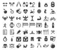 Ícones da saúde e da aptidão Fotografia de Stock