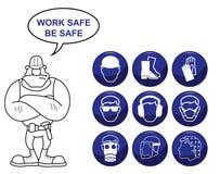 Ícones da saúde e da segurança ilustração royalty free