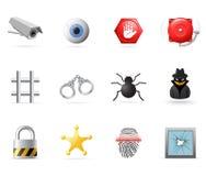 Ícones da segurança ilustração stock