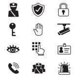 Ícones da segurança ajustados Ilustração Stock