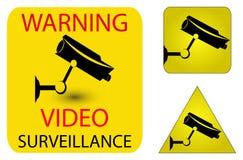 Ícones da segurança da câmera Fotografia de Stock Royalty Free