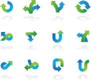 Ícones da seta ajustados Fotografia de Stock Royalty Free
