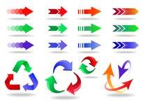 Ícones da seta ajustados Imagens de Stock