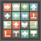 Ícones da seta ajustados Foto de Stock