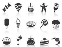 Ícones da sobremesa ajustados Fotografia de Stock Royalty Free