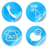 Ícones da sustentação Fotografia de Stock Royalty Free