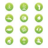 Ícones da sustentabilidade Imagens de Stock